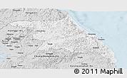 Silver Style Panoramic Map of Kang-Won-Do