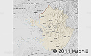 Shaded Relief Map of Kyonggi-Do, desaturated