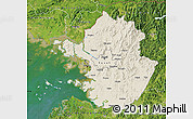 Shaded Relief Map of Kyonggi-Do, satellite outside