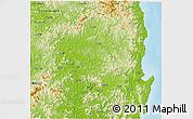 Physical 3D Map of Kyongsangbuk-Do