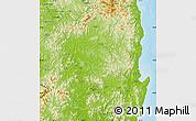 Physical Map of Kyongsangbuk-Do