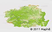 Physical Panoramic Map of Kyongsangbuk-Do, cropped outside