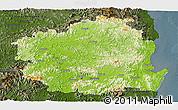 Physical Panoramic Map of Kyongsangbuk-Do, darken