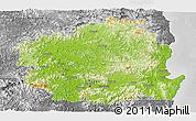 Physical Panoramic Map of Kyongsangbuk-Do, desaturated