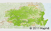 Physical Panoramic Map of Kyongsangbuk-Do, lighten