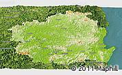 Physical Panoramic Map of Kyongsangbuk-Do, satellite outside