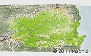 Physical Panoramic Map of Kyongsangbuk-Do, semi-desaturated