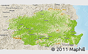 Physical Panoramic Map of Kyongsangbuk-Do, shaded relief outside