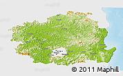 Physical Panoramic Map of Kyongsangbuk-Do, single color outside