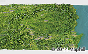 Satellite Panoramic Map of Kyongsangbuk-Do