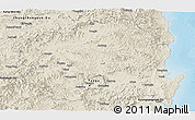 Shaded Relief Panoramic Map of Kyongsangbuk-Do