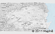 Silver Style Panoramic Map of Kyongsangbuk-Do