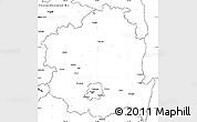Blank Simple Map of Kyongsangbuk-Do