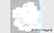 Gray Simple Map of Kyongsangbuk-Do