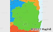 Political Simple Map of Kyongsangbuk-Do