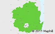 Political Simple Map of Kyongsangbuk-Do, single color outside