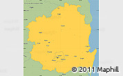 Savanna Style Simple Map of Kyongsangbuk-Do