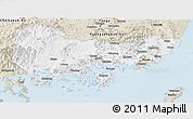 Classic Style Panoramic Map of Kyongsangnam-Do