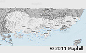 Gray Panoramic Map of Kyongsangnam-Do