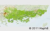 Physical Panoramic Map of Kyongsangnam-Do, lighten