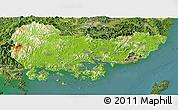 Physical Panoramic Map of Kyongsangnam-Do, satellite outside