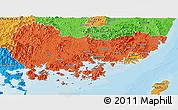 Political Panoramic Map of Kyongsangnam-Do