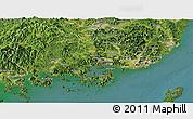 Satellite Panoramic Map of Kyongsangnam-Do
