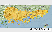 Savanna Style Panoramic Map of Kyongsangnam-Do