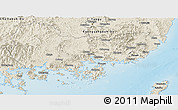 Shaded Relief Panoramic Map of Kyongsangnam-Do