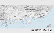 Silver Style Panoramic Map of Kyongsangnam-Do
