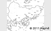 Blank Simple Map of Kyongsangnam-Do