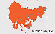 Political Simple Map of Kyongsangnam-Do, cropped outside