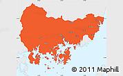 Political Simple Map of Kyongsangnam-Do, single color outside