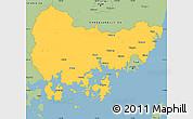 Savanna Style Simple Map of Kyongsangnam-Do