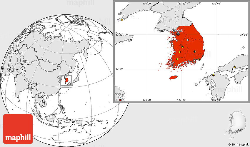 Blank location map of south korea highlighted continent westnortheast south gumiabroncs Gallery