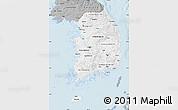 Gray Map of South Korea