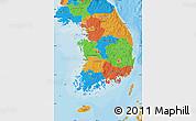Political Map of South Korea