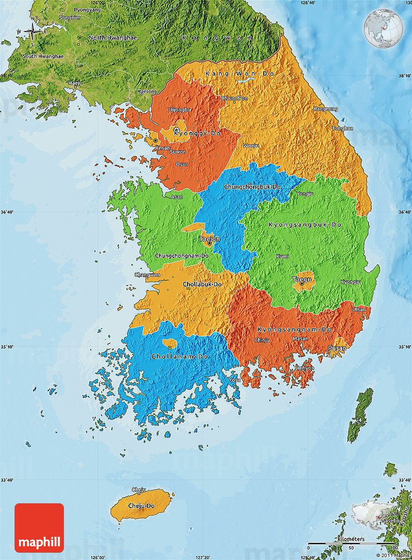 a geography of south korea How can the answer be improved.