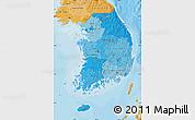 Political Shades Map of South Korea