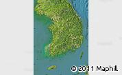 Satellite Map of South Korea
