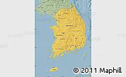 Savanna Style Map of South Korea