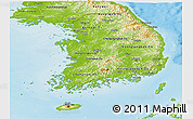 Physical Panoramic Map of South Korea