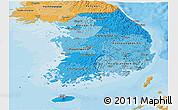 Political Shades Panoramic Map of South Korea