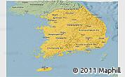 Savanna Style Panoramic Map of South Korea