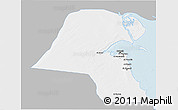 Gray 3D Map of Kuwait, single color outside