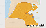 Political 3D Map of Kuwait, lighten