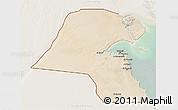 Satellite 3D Map of Kuwait, lighten