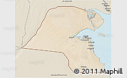 Satellite 3D Map of Kuwait, shaded relief outside