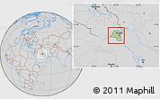 Savanna Style Location Map of Kuwait, lighten, desaturated