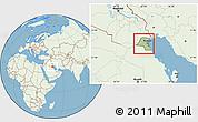 Savanna Style Location Map of Kuwait, lighten, land only